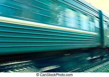 train, vitesse, fond