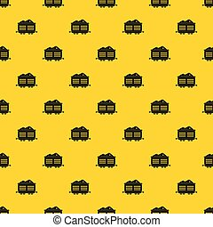 Train waggon with coal pattern vector - Train waggon with ...