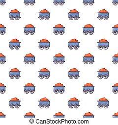 Train wagon pattern seamless
