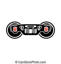 Train wheels icon, simple style