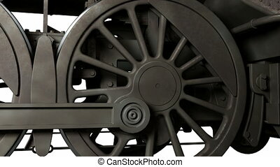 Train wheels - Motion wheel of antique train
