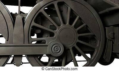 Train wheels - Motion wheel of antique train
