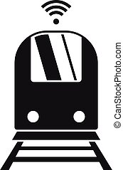 Train wifi point icon, simple style