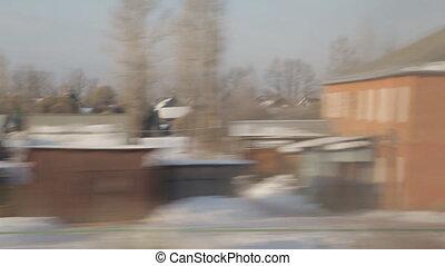 train winter background sound