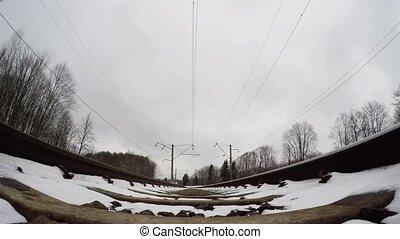 train winter bottom view