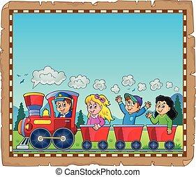 Train with kids theme parchment 1