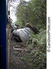 Train Wreck - A ship wreck in Parana State - Brazil.