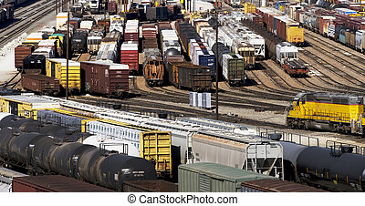 Train Yard. - Train yard in Fort Worth, Texas.