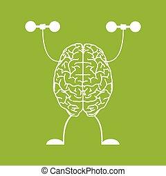 Train your brain. Creative concept vector illustration.