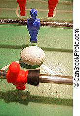 Table football with brain as a ball
