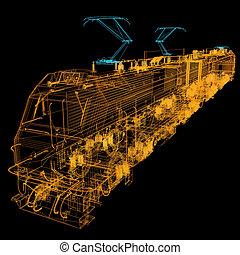 train.3d, illustratie