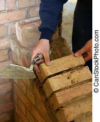 Trainee bricklayer