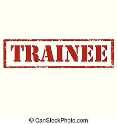 trainee-red, estampilla