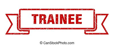 trainee ribbon. trainee grunge band sign. trainee banner