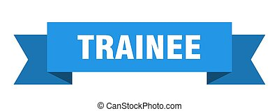 trainee ribbon. trainee paper band banner sign