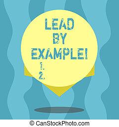 trainer, geven, kleurenfoto, edge., ontwerp, voorbeelden, leeg, volgen, lood, schrijvende , regels, tekst, conceptueel, cirkel, leider, zijn, zakelijk, example., het tonen, hand, schaduw, mentor