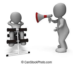 trainer, opleiding, trainer, passen, krijgen, Persoonlijk,...