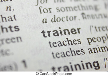 trainer - Word trainer in a dictionary