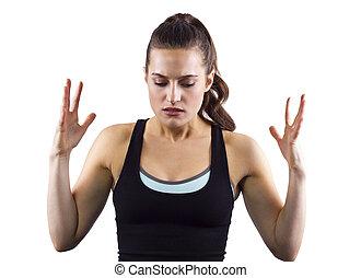 trainer, vrouwlijk,  fitness