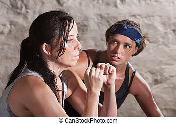 Trainer Watching Athlete During Boot Camp Training