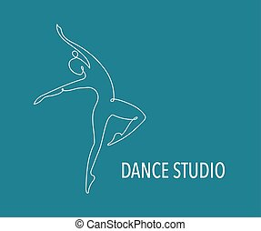 trainer, web, kleurrijke, mensen, dans, abstract, gym, rennende , vector, fitness, logo, design., logo., symbool, pictogram