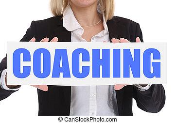 trainieren, und, mentoring, bildung, lehrwerkstätte, lernen, firmenschulung, geschäftskonzept