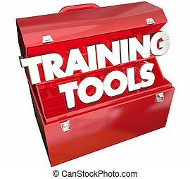 training, abbildung, kurs, lernen, werkzeugkasten, bildung, werkzeuge, 3d