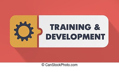 Training and Development Concept in Flat Design. - Training ...