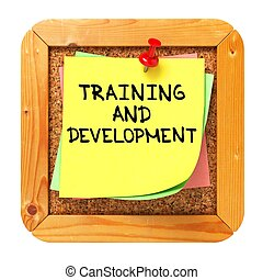 Training and Development. Sticker on Bulletin. - Training...