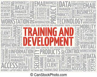 Training and development word cloud