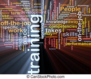 Training background concept - Background concept wordcloud...