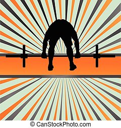training, begriff, crossfit, vektor, gewichte, hintergrund