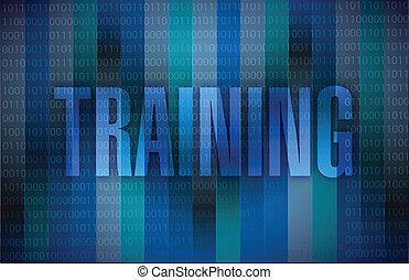 training binary illustration design