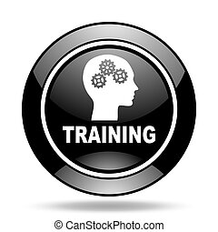 training black glossy icon