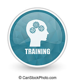 Training brillant crystal design round blue web icon.