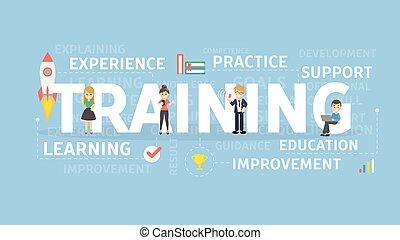 Training concept illustration.