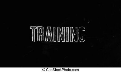 Training Concept Written On Blackboard