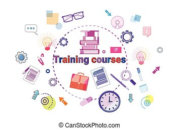 Training Courses Banner Online Education Elearning Concept