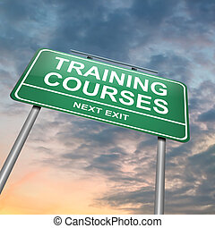 Training courses concept. - Illustration depicting an...