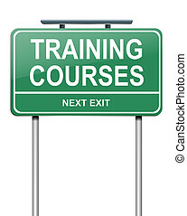 Training courses concept. - Illustration depicting a green...