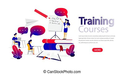 Training courses horizontal banner for your website.