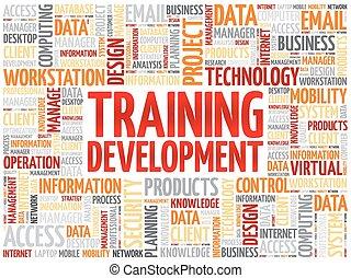 Training development word cloud