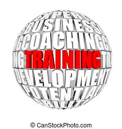 training - words on topics with prospect on  background