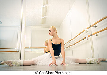 training in ballet class