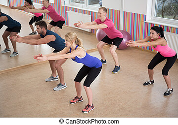 Training in fitness club
