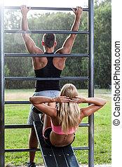 Training in park