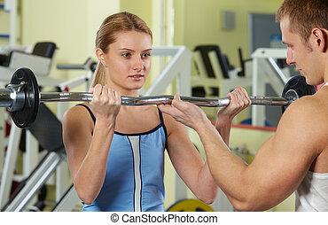 training, in, turnhalle