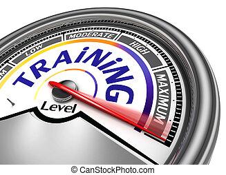 training level conceptual meter indicate maximum, isolated...