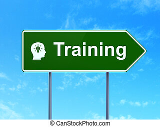 training, licht, kopf, concept:, zwiebel, bildung, straße