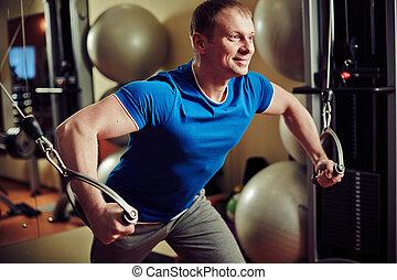 Training man